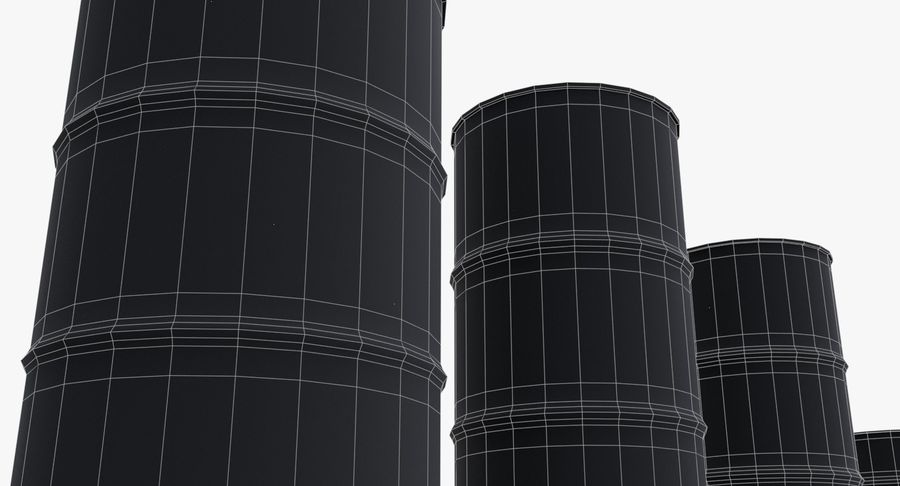 chemical barrels royalty-free 3d model - Preview no. 24