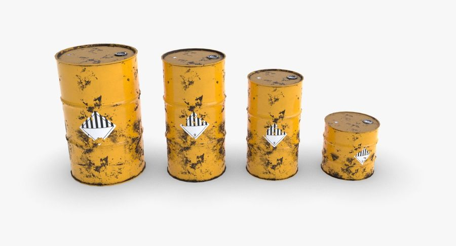 chemical barrels royalty-free 3d model - Preview no. 2