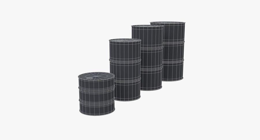 chemical barrels royalty-free 3d model - Preview no. 18