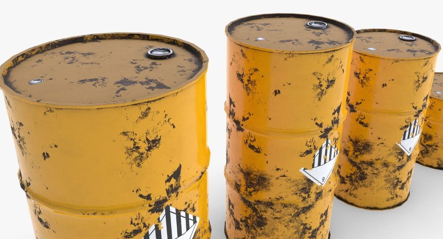 chemical barrels royalty-free 3d model - Preview no. 12