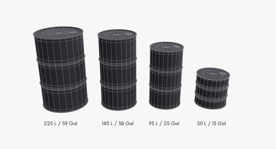 chemical barrels royalty-free 3d model - Preview no. 15