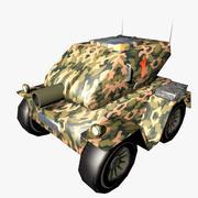 タンク漫画低ポリ 3d model