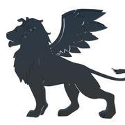winged lion 3d model