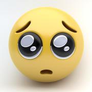EMOJI умоляющие глаза 3d model