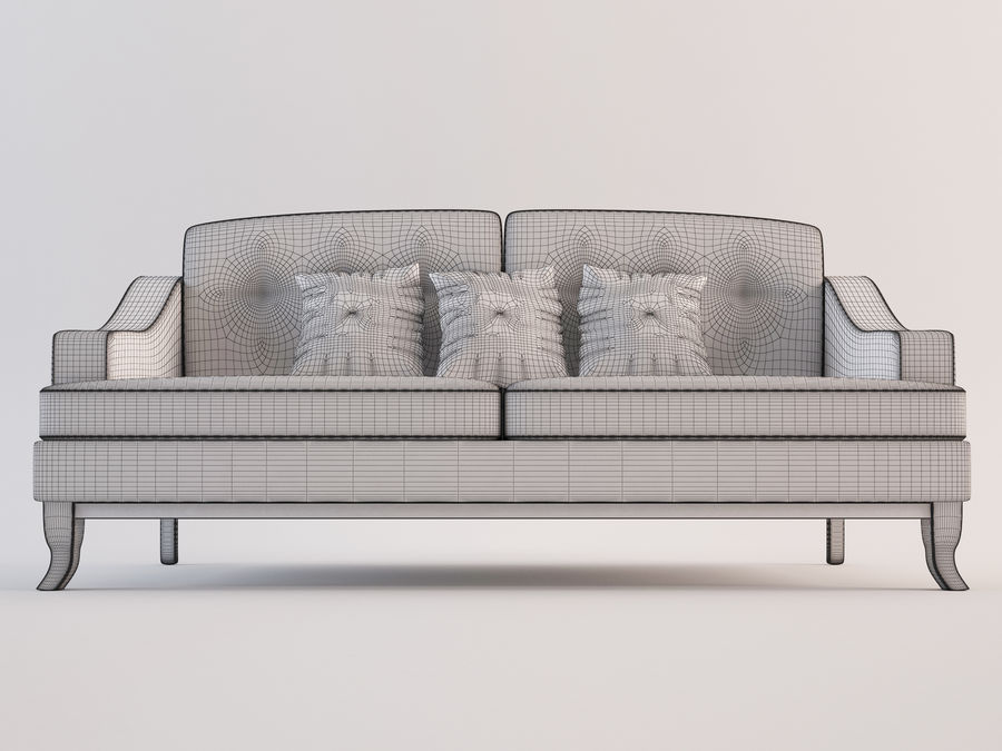 Soffa modell 05 royalty-free 3d model - Preview no. 6