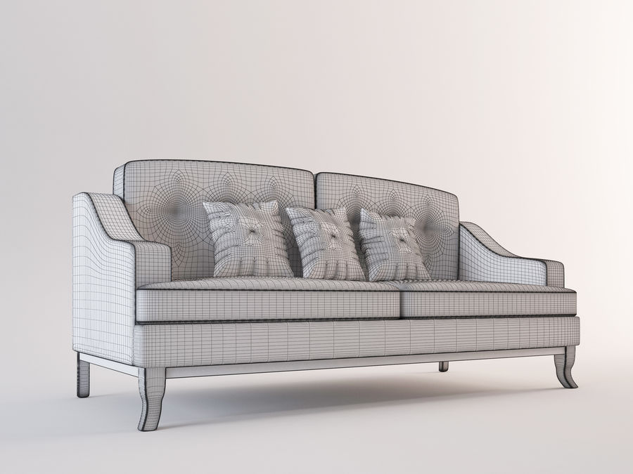 Soffa modell 05 royalty-free 3d model - Preview no. 5