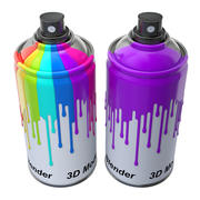 Spray Can with paint 3d model