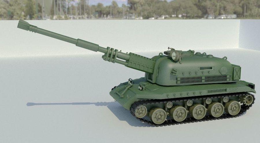 Artillery royalty-free 3d model - Preview no. 2