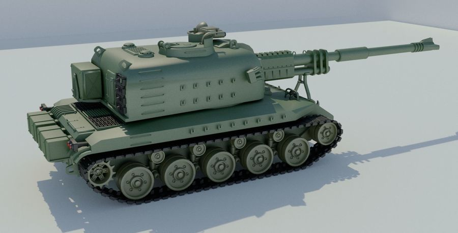 Artillery royalty-free 3d model - Preview no. 7