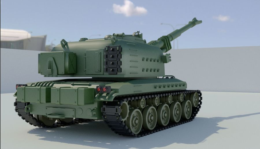 Artillery royalty-free 3d model - Preview no. 4
