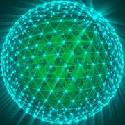 抽象的な未来的な球 3d model