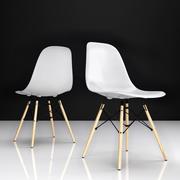 Eames DSW塑料餐椅 3d model