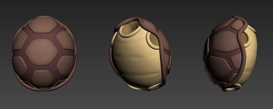 żółw royalty-free 3d model - Preview no. 15