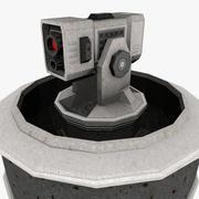 Canhão de torre de chão 3d model