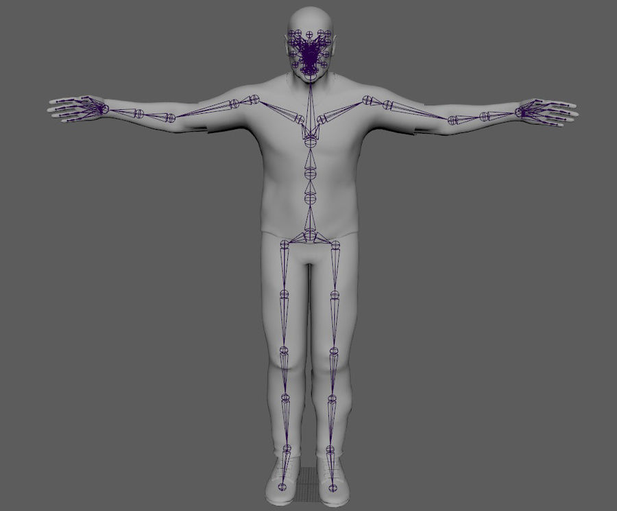 Старик royalty-free 3d model - Preview no. 13