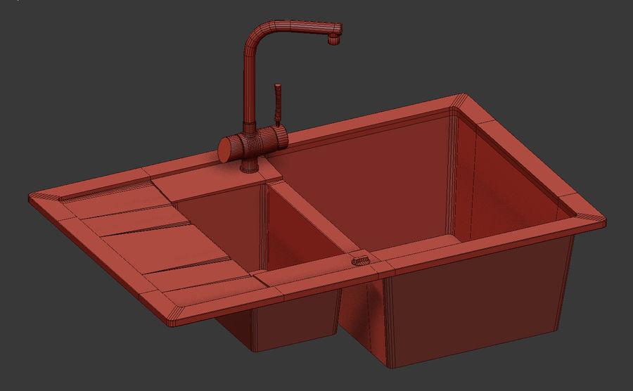 Lavello e rubinetto UE4 royalty-free 3d model - Preview no. 5