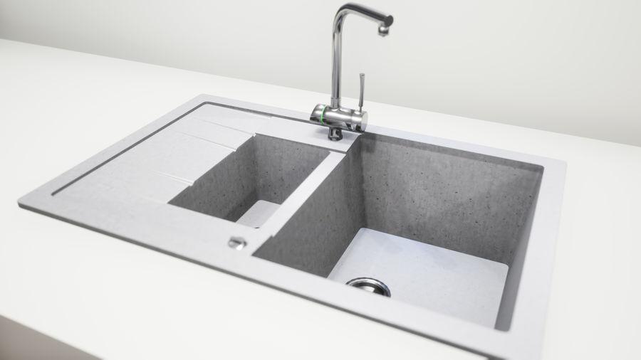 Lavello e rubinetto UE4 royalty-free 3d model - Preview no. 2