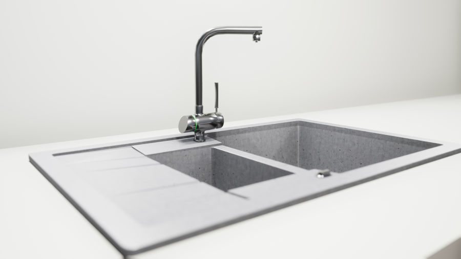Lavello e rubinetto UE4 royalty-free 3d model - Preview no. 1
