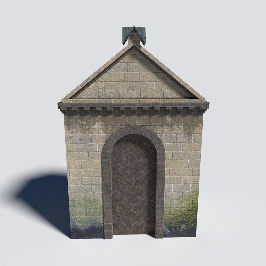 模块化城堡大门包 royalty-free 3d model - Preview no. 2