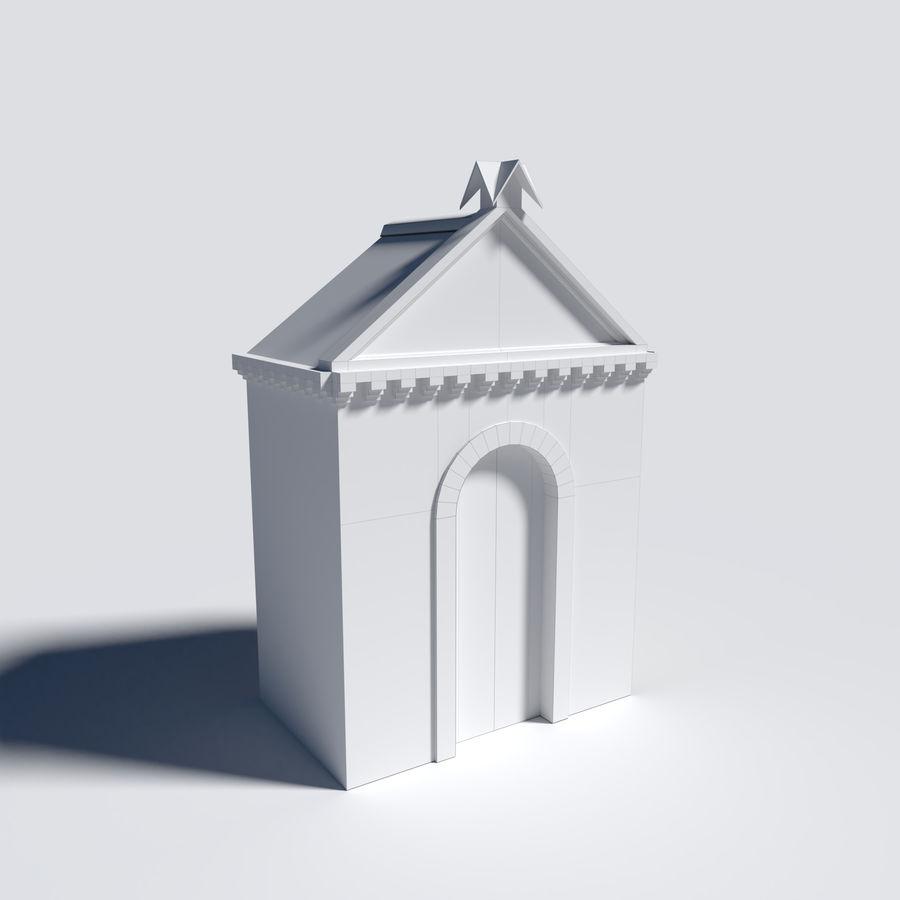 模块化城堡大门包 royalty-free 3d model - Preview no. 5