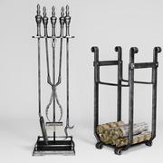 Каминные аксессуары 3d model