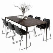 Siena Table Drexel Chair set 3d model