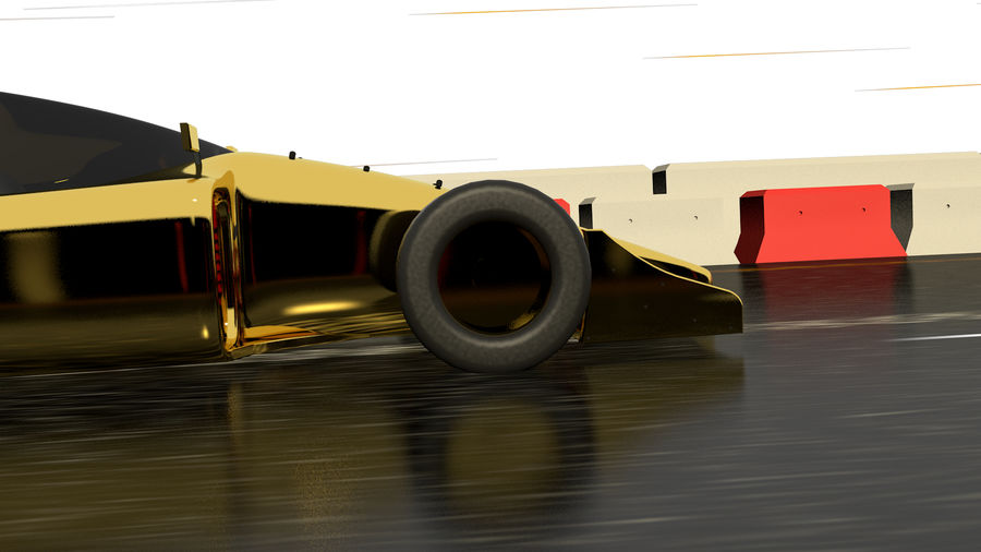 Race car F1 royalty-free 3d model - Preview no. 4