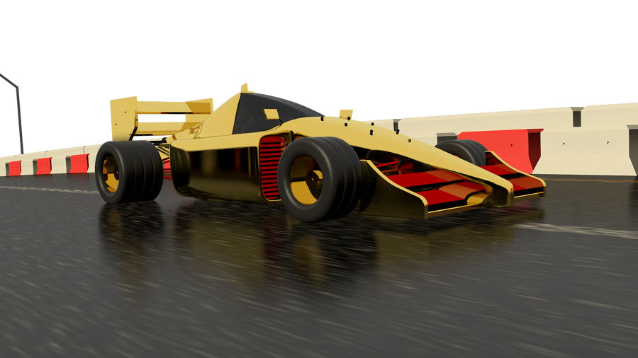 Race car F1 royalty-free 3d model - Preview no. 1