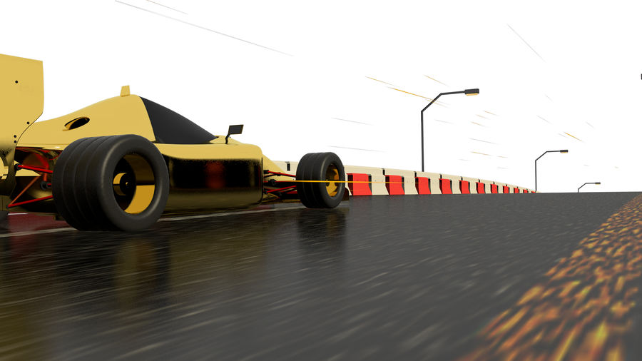 Race car F1 royalty-free 3d model - Preview no. 2