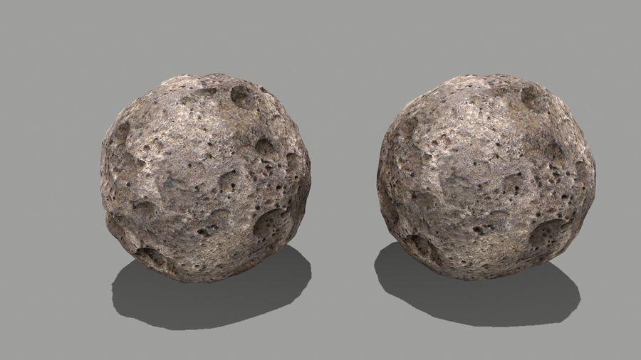 conjunto de asteroides royalty-free modelo 3d - Preview no. 22