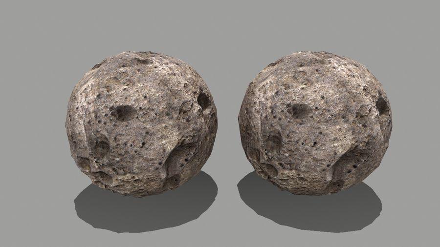 conjunto de asteroides royalty-free modelo 3d - Preview no. 26