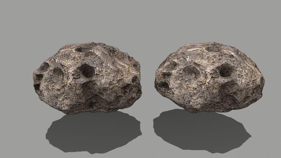 conjunto de asteroides royalty-free modelo 3d - Preview no. 24