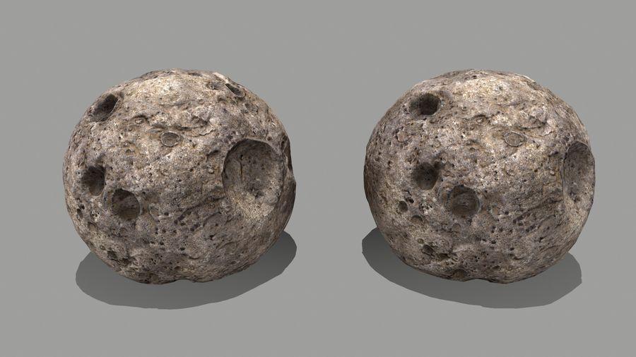 conjunto de asteroides royalty-free modelo 3d - Preview no. 14