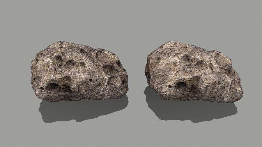 conjunto de asteroides royalty-free modelo 3d - Preview no. 28