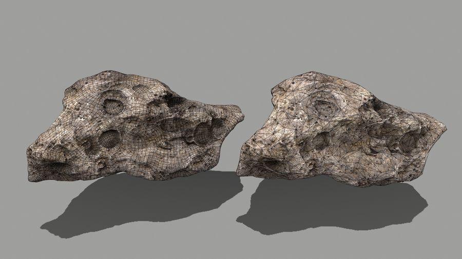 conjunto de asteroides royalty-free modelo 3d - Preview no. 8