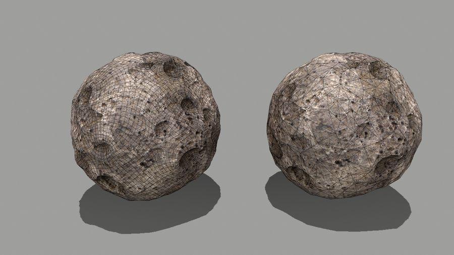 conjunto de asteroides royalty-free modelo 3d - Preview no. 21