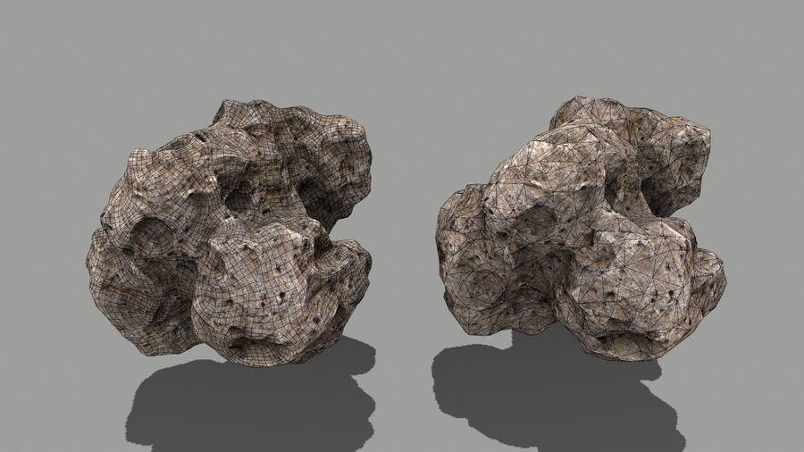 conjunto de asteroides royalty-free modelo 3d - Preview no. 12
