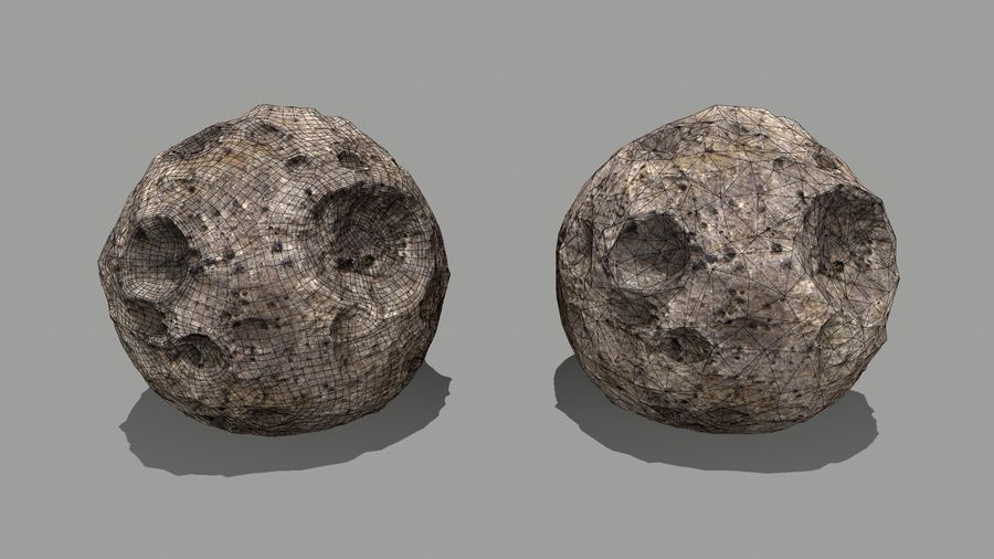 conjunto de asteroides royalty-free modelo 3d - Preview no. 6