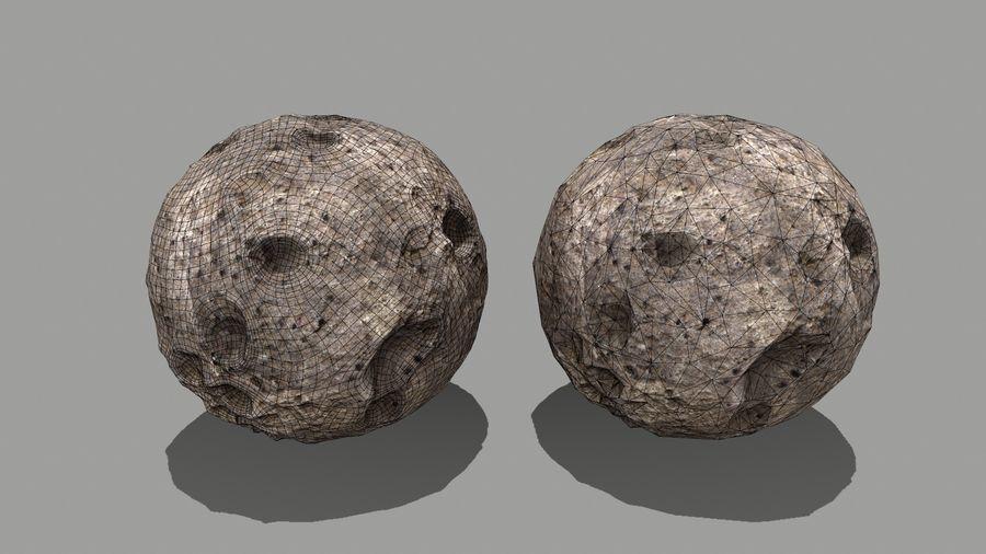 conjunto de asteroides royalty-free modelo 3d - Preview no. 25
