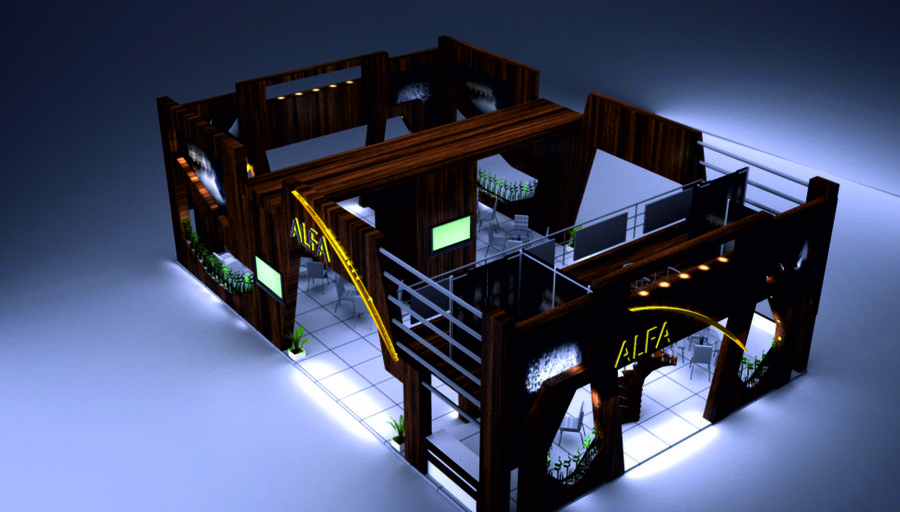 Fair stand - furniture stand royalty-free 3d model - Preview no. 4