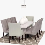 餐桌椅 3d model