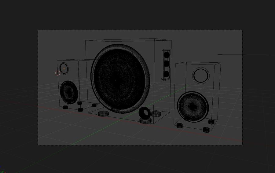 Hoparlör Sesi royalty-free 3d model - Preview no. 4