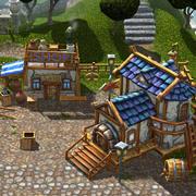 Ręcznie malowane wioski 3d model