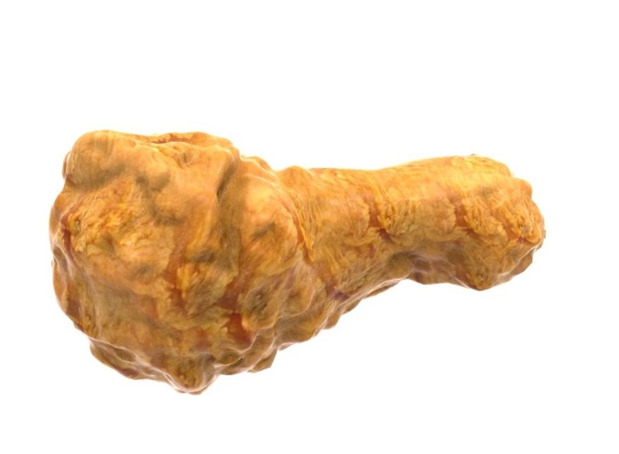 Fried Chicken royalty-free 3d model - Preview no. 4