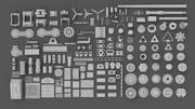 Hard Surface Sci-Fi Industrial KitBash Library 01 3d model