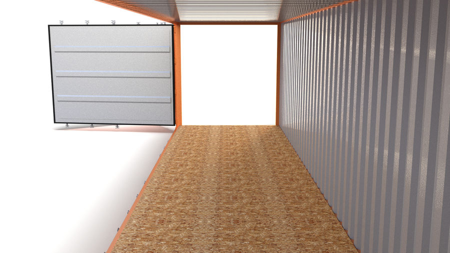 40ft Shipping Container Side Open royalty-free 3d model - Preview no. 5