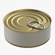 aliments en conserve ronde étain métal aluminium peut 3d model