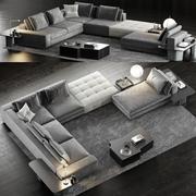 米诺蒂·劳伦斯沙发4 3d model