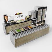 设置一个咖啡馆 3d model
