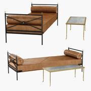 Maison Bagues ve Ferforje ve Deri Daybed'in Nadir Bronz Masası Andre Arbus'a Atfedildi 3d model